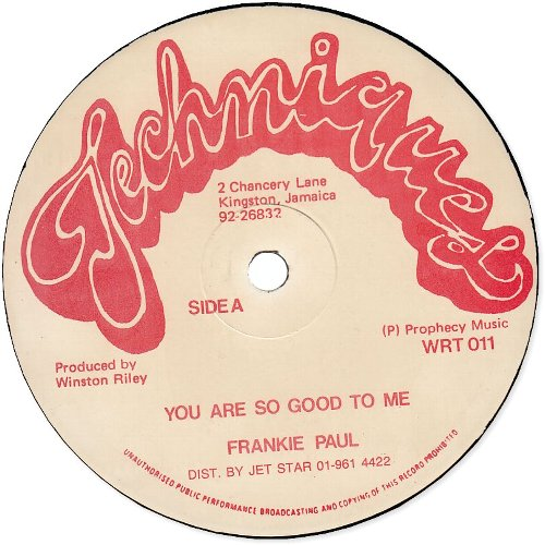 YOU ARE SO GOOD TO ME (VG+) / BALDHEAD TREAT YOUR WOMAN GOOD (VG+)