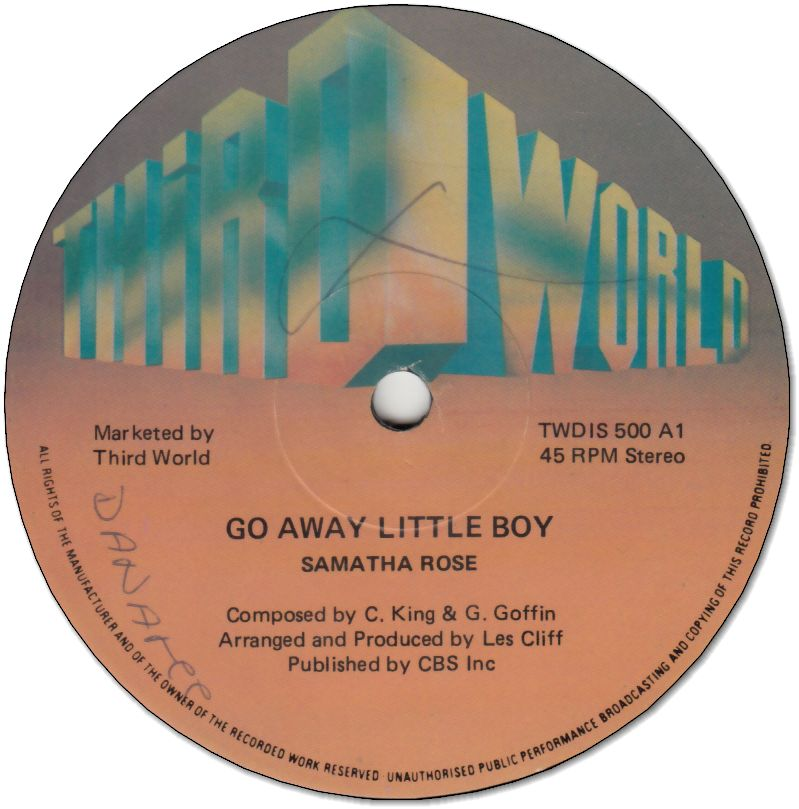 GO AWAY LITTLE BOY (VG/WOL) / YOU'LL NEVER GET YOUR HOOKS IN MY MAN (VG-/WOL)