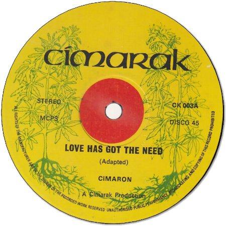 LOVE HAS GOT THE NEED (VG to VG+) / WANTED (VG+)