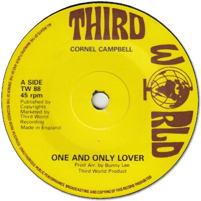 ONE AND ONLY LOVER (VG) / VERSION (VG)