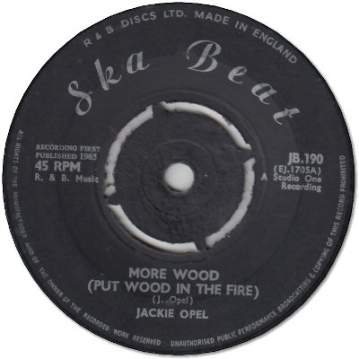 MORE WOOD (Put Wood in The Fire) (VG) / DONE WITH A FRIEND (VG)