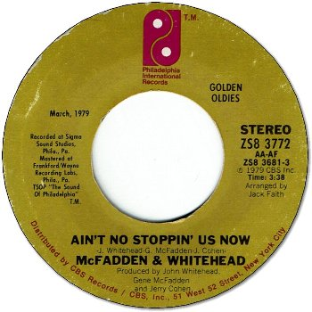 AIN'T NO STOPPIN'US NOW (EX) / I GOT THE LOVE