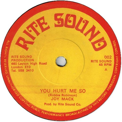 YOU HURT ME SO (VG+)